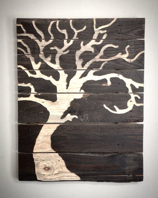 76c9f14368e Tree Art - Tree Silhouette - Pallet Wood Art - Wood Engraving - Wall Art -  Customizable - Abstract Tree - Reclaimed Wood - Free Shipping