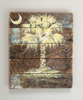 SC Palmetto Tree - Palm Tree - Wall Art - Available in Custom Sizes ...